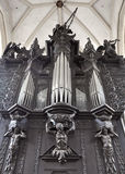 Organ w kościół Zdjęcie Royalty Free