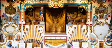 Organ Whistlin Dikie stockfotos
