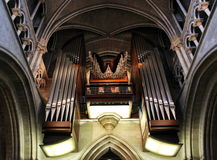 organ, wind musical instrument Stock Images