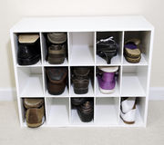 organazer鞋子 库存图片