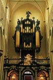Organe antique dans l'église chrétienne photo stock