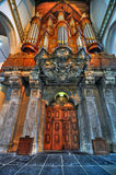 Organe d'Amsterdam Oude Kerk Photo libre de droits