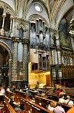 Organe d'instrument de musique dans le noir Madonna de cathédrale image libre de droits
