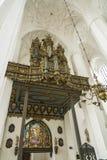 Organe dans la basilique Danzig de St Mary Photographie stock libre de droits