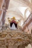 Organe dans la cathédrale de Dubrovnik photo stock