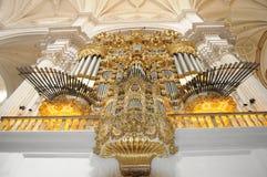 Organe dans la cathédrale de Grenade Images libres de droits