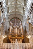 Organe dans la chapelle Lancing dans l'université Lancing, Angleterre Photographie stock libre de droits