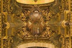 Organe de cathédrale de Braga photographie stock