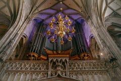 Organe de cathédrale du ` s de St Stephen photographie stock libre de droits