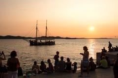 Organe de mer dans Zadar photo stock