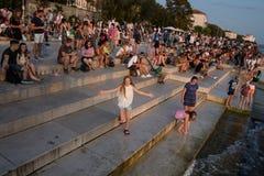 Organe de mer dans Zadar photos stock