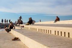 Organe de mer de Zadar image stock