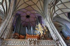 Organe de pipe à la cathédrale de rue Stephen images libres de droits