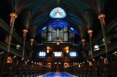 Organe de pipe de basilique de Notre Dame Photographie stock libre de droits
