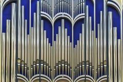 Organe de tuyau à l'organe Hall de la société philharmonique de Belgorod photo libre de droits