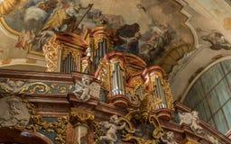 Organe de tuyau antique, Nitra, Slovaquie photos libres de droits