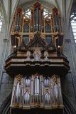 Organe de tuyau dans l'intérieur de St Michael et de cathédrale de St Gudula, photos libres de droits