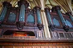 Organe de tuyau en Bristol Cathedral photos libres de droits