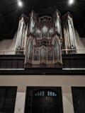 Organe grand dans la cathédrale a200 américaine an image libre de droits