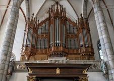 Organe principal, église de saint Vitus, Cesky Krumlov, République Tchèque photos libres de droits