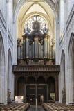 Organe principal de la cathédrale d'Anvers notre Madame photographie stock