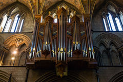 Organen in cathredral in Worcester Stock Foto