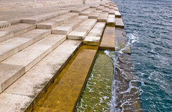 Organes de mer de Zadar - actionnés par le flot de mer Photo libre de droits