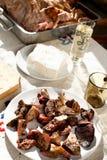 Organes de viande cuite photographie stock libre de droits