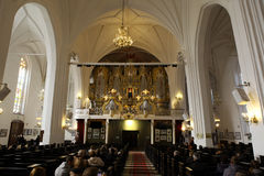 Organet Hall av domkyrkan Arkivbilder