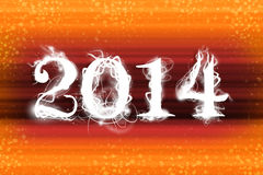 2014 organge wallpaper Royalty Free Stock Image