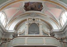 Organi ed affresco della chiesa Immagini Stock Libere da Diritti