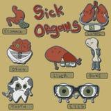 Organi malati messi Fotografia Stock