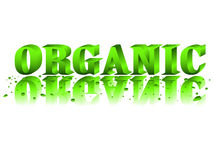 Organic. Illustration of character of ecological cleanness Royalty Free Stock Photography