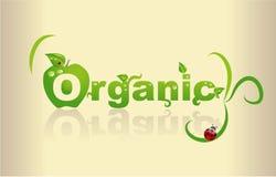 Organic. Word art - Organic word made of leafs Royalty Free Stock Image