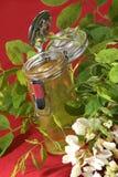 Organic acacia honey in a small glass Royalty Free Stock Photos