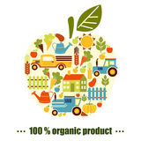 Organic agriculture background Royalty Free Stock Photo