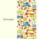 Organic agriculture background. With place for text Royalty Free Stock Photos