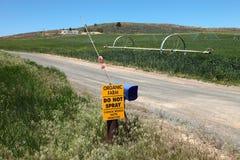 Organic Agriculture & farmlands, south Oregon. Stock Image