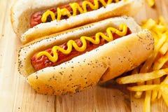 Organic All Beef Hotdog Stock Image
