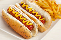 Organic All Beef Hotdog Stock Photo