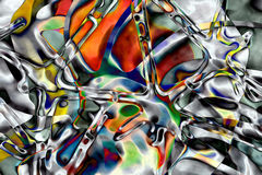 Organic alloy. Abstract composition Royalty Free Stock Image