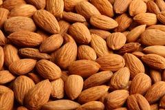 ORGANIC Almond background texture . Stock Image