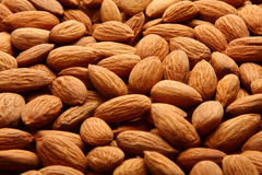 Organic almond nuts Royalty Free Stock Photos