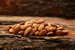 Organic almond nuts Royalty Free Stock Photography
