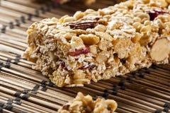 Organic Almond and Raisin Granola Bar Royalty Free Stock Photography