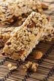 Organic Almond and Raisin Granola Bar Royalty Free Stock Photo