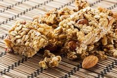 Organic Almond and Raisin Granola Bar Stock Photo