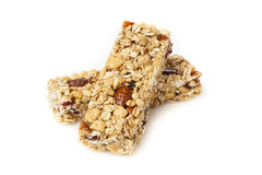 Organic Almond and Raisin Granola Bar Royalty Free Stock Photos