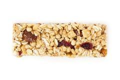 Organic Almond and Raisin Granola Bar. On a background Royalty Free Stock Photos