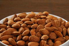 Organic Almonds Stock Images